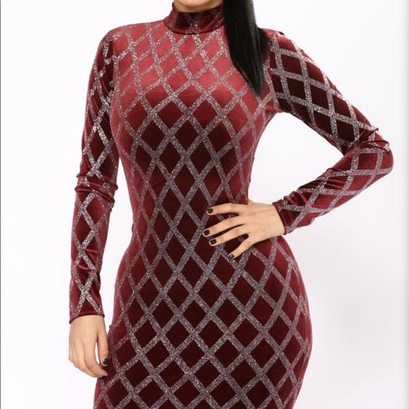 Fashion Nova Dresses & Skirts - Velvet glitter dress